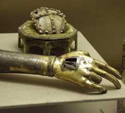 Relikwie van de arm met vinger van Johannes de Doper
